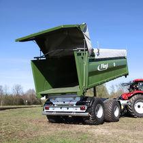 Dreiseitenkipper-Anhänger / mit Kipper / Tandem / Landwirtschaft
