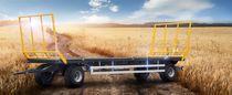 Platte-Anhänger / 2-Achsen / Silage / für Ballen