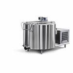 Tank für Milch / vertikal / Edelstahl / mit Kühlsystem