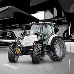 Traktor / mechanisches Getriebe / mit Kabine / Frontzapfwelle / Dreipunktanbau