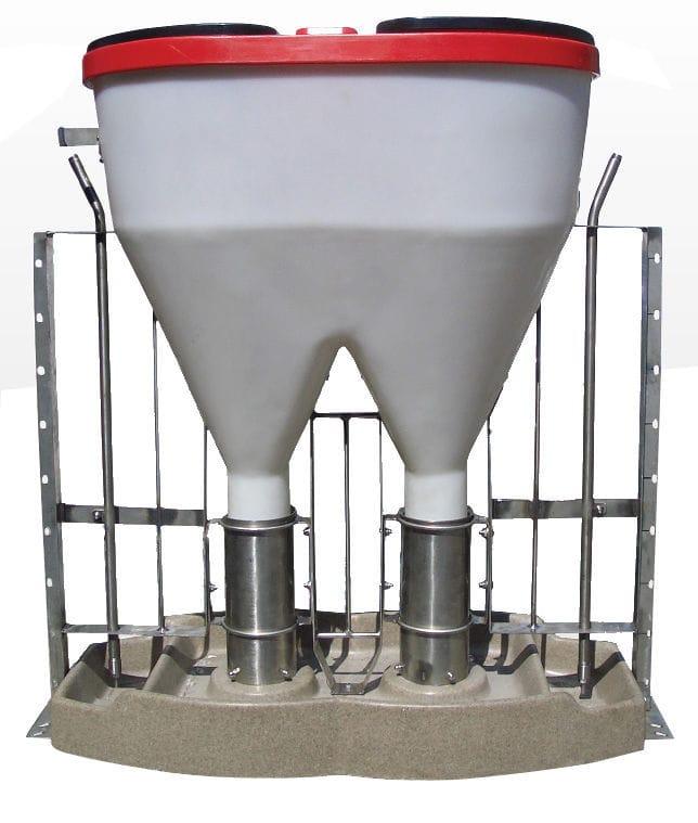 56fdefe27fb pesebre para cerdos   de plástico   de acero inoxidable   de hormigón -  TUBO TSPK DOUBLE