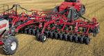 sembradora en líneas con tolva / de arrastre / con sistema de distribución de fertilizante / plegable