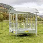 contenedor de alimento para bóvidos / para caballos / de acero / multiacceso