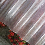 plancha de techado de poliéster reforzado por fibra de vidrio / para invernadero / ondulada / con protección UV
