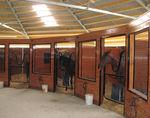 étable démontable / pour chevaux / rond