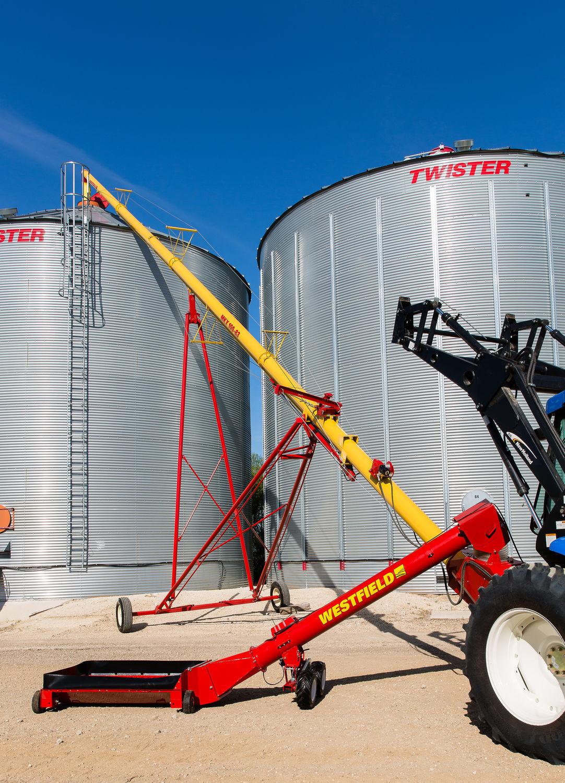 Grain conveyor / screw / mobile / swing-away - MKX 100 series - AGI