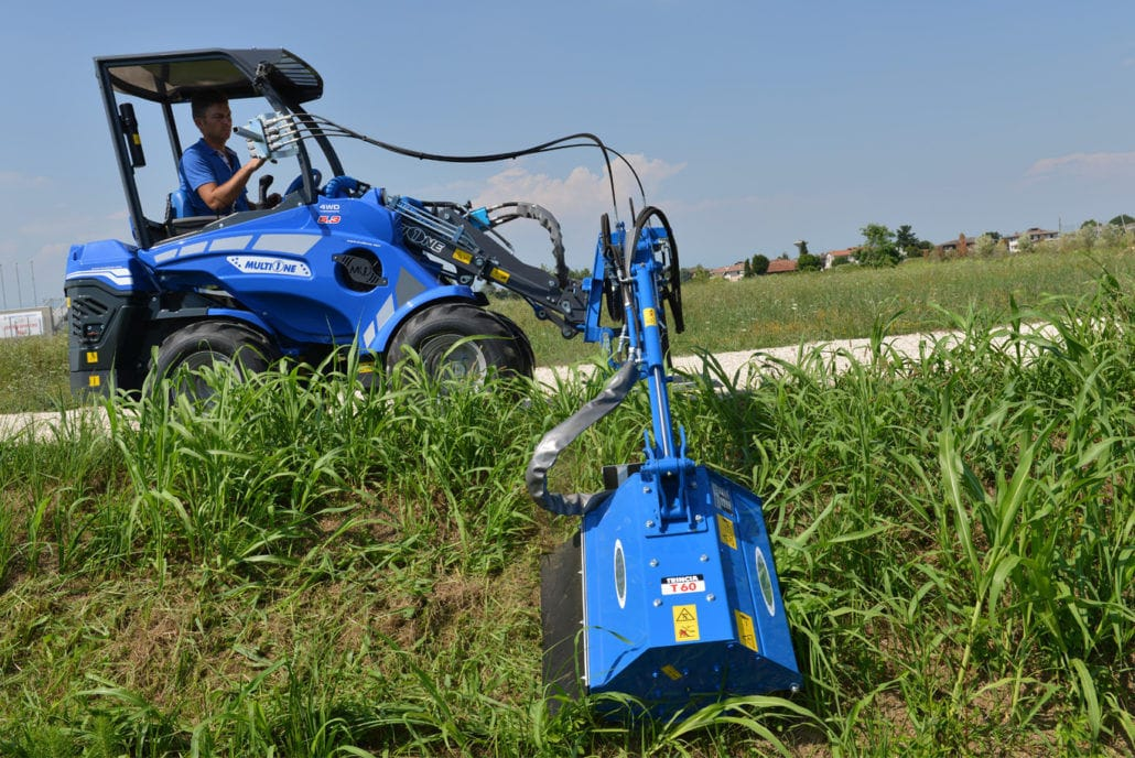 Mounted reach mower / flail / folding - MULTIONE s r l  - Videos