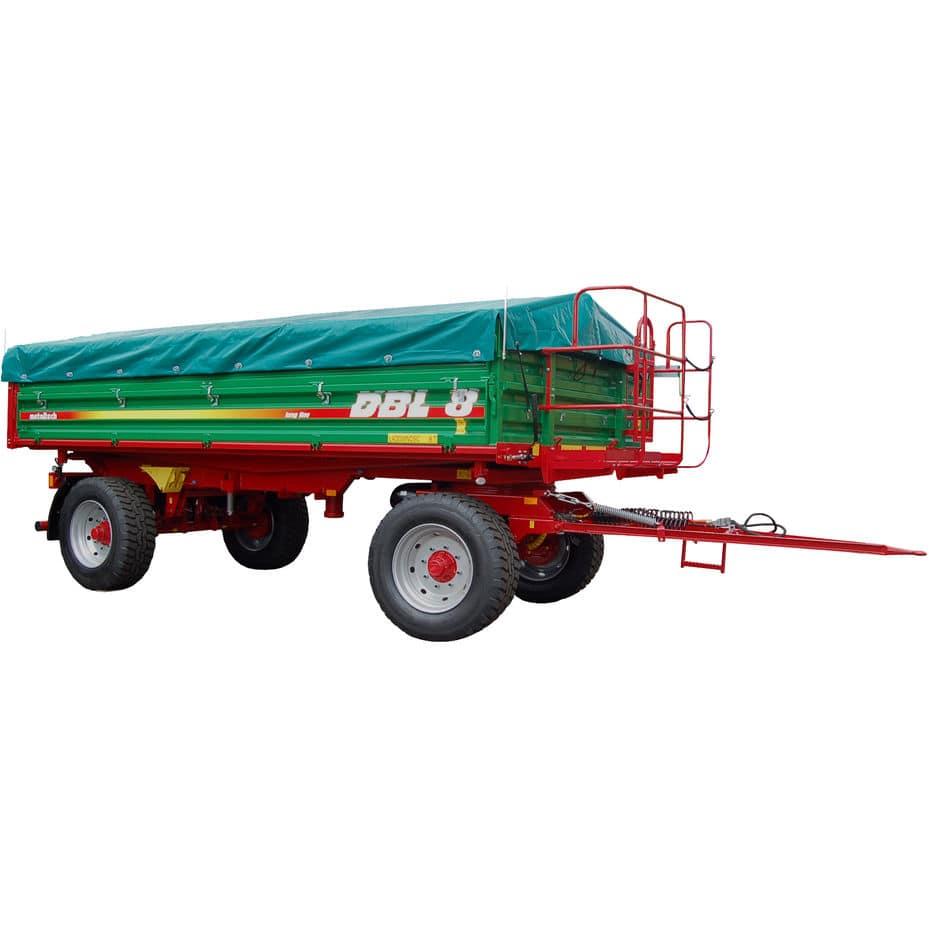 Dump trailer / 2-axle / agricultural / 3-way - DBL 8 - METALTECH