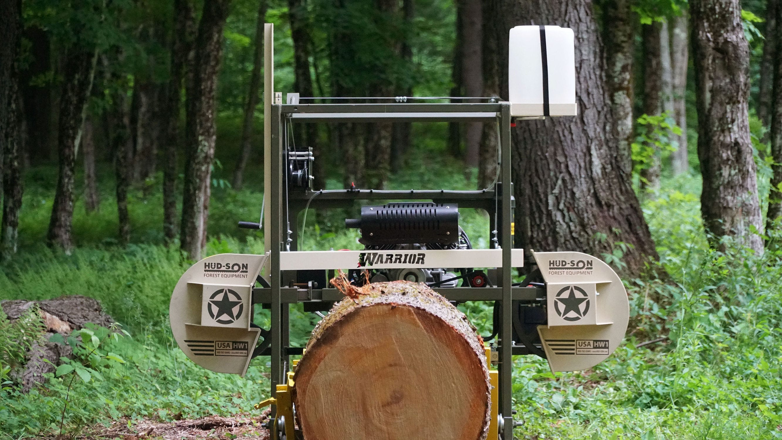Portable sawmill / gasoline engine - WARRIOR - hud-son - Videos