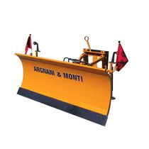 Straight snow plough / on 3-point tractor front linkage / with rubber scraper / with hydraulic adjustment