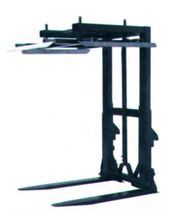 Pallet fork / 2-tine / with center grab