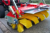Groundcare sweeper / tractor-mounted