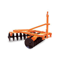 Trailed disc harrow / tractor-mounted / offset