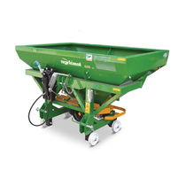 Tractor-mounted fertilizer applicator