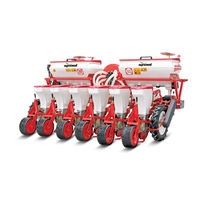Precision seed drill with fertilizer applicator / disc