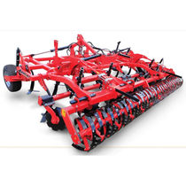 Trailed field cultivator / with roller / with disk harrow / soil loosening