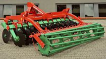 Mounted stubble cultivator / with hydraulic adjustment / with disk harrow / with roller