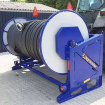 Tractor-mounted hose reel