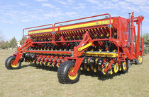 Pneumatic seed drill / depth control / double-disc / no-till