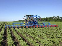 Mounted row crop cultivator
