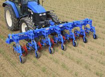 Front-mount row crop cultivator