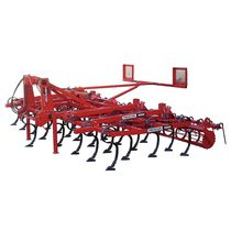 Tractor-mounted field cultivator / with roller / spring tine