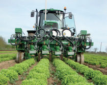 Tractor-mounted row crop cultivator / weeding