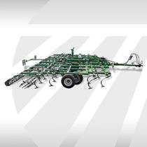 Trailed field cultivator / with harrow / folding
