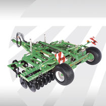 Trailed field cultivator / with roller / with hydraulic adjustment / folding
