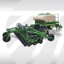 Pneumatic seed drill / double-disc / folding / trailed