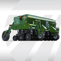 Mechanical seed drill / tractor-mounted / compact