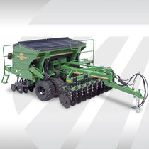 Mechanical seed drill / trailed / double-disc / compact
