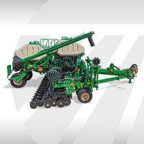 Air seed drill / direct / double-disc