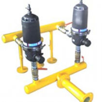 Disc irrigation filter / steel / PVC / automatic