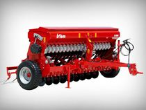 Mechanical seed drill / trailed / with fertilizer applicator / disc