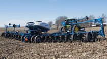 16-row precision seed drill / trailed / 3-point hitch / with fertilizer applicator
