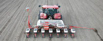 Tractor-mounted precision seed drill / with fertilizer applicator / folding / disc