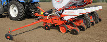 6-row precision seed drill / trailed / with fertilizer applicator / depth control