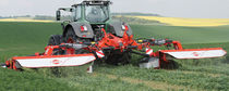 Mounted mower / disc / folding / with conditioner