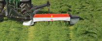 Mounted mower / drum / folding / with conditioner