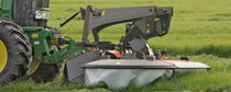 Front-mount mower / drum / folding / with conditioner