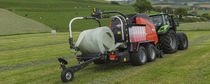 Round baler / variable chamber / with bale wrapper