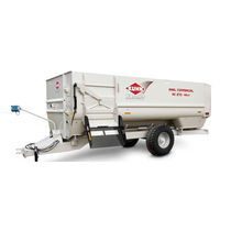 Trailed feed mixer / 2-auger