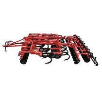 Trailed field cultivator / spring tine / folding