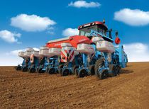 4-row precision seed drill / tractor-mounted / disc / direct