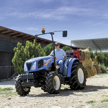 Low-profile tractor / mechanical shuttle / with ROPS / compact