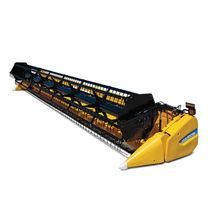 Grain harvesting header / rigid