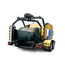 Round baler / fixed chamber / with bale wrapper