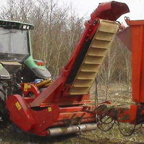 Semi-mounted mulcher / flail / with collector / PTO-driven
