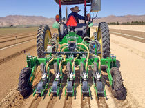 Tractor-mounted precision seed drill / disc / with fertilizer applicator